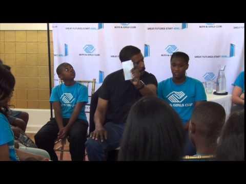 Denzel Washington offers advice to Boys & Girls Club of Baton Rouge