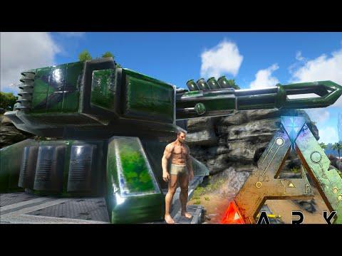 Ark Survival Evolved - PLASMA CANNON, MISSILE TURRETS, MECH BASE FUTURISM (Ark Modded Gameplay)