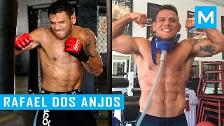 Rafael Dos Anjos Conditioning Workouts & Pad Work | Muscle Madness