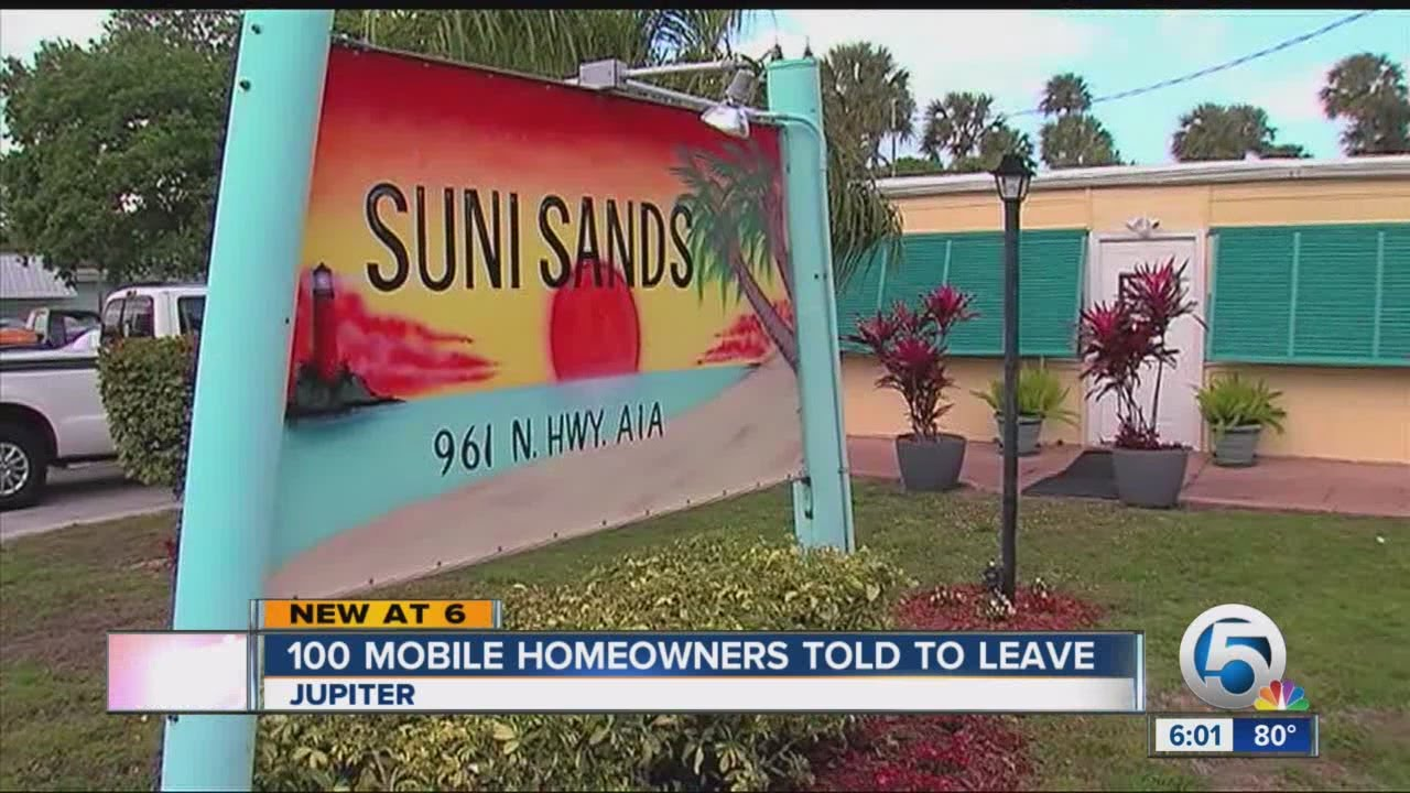 Evictions Posted At A Palm Beach County Mobile Home Park