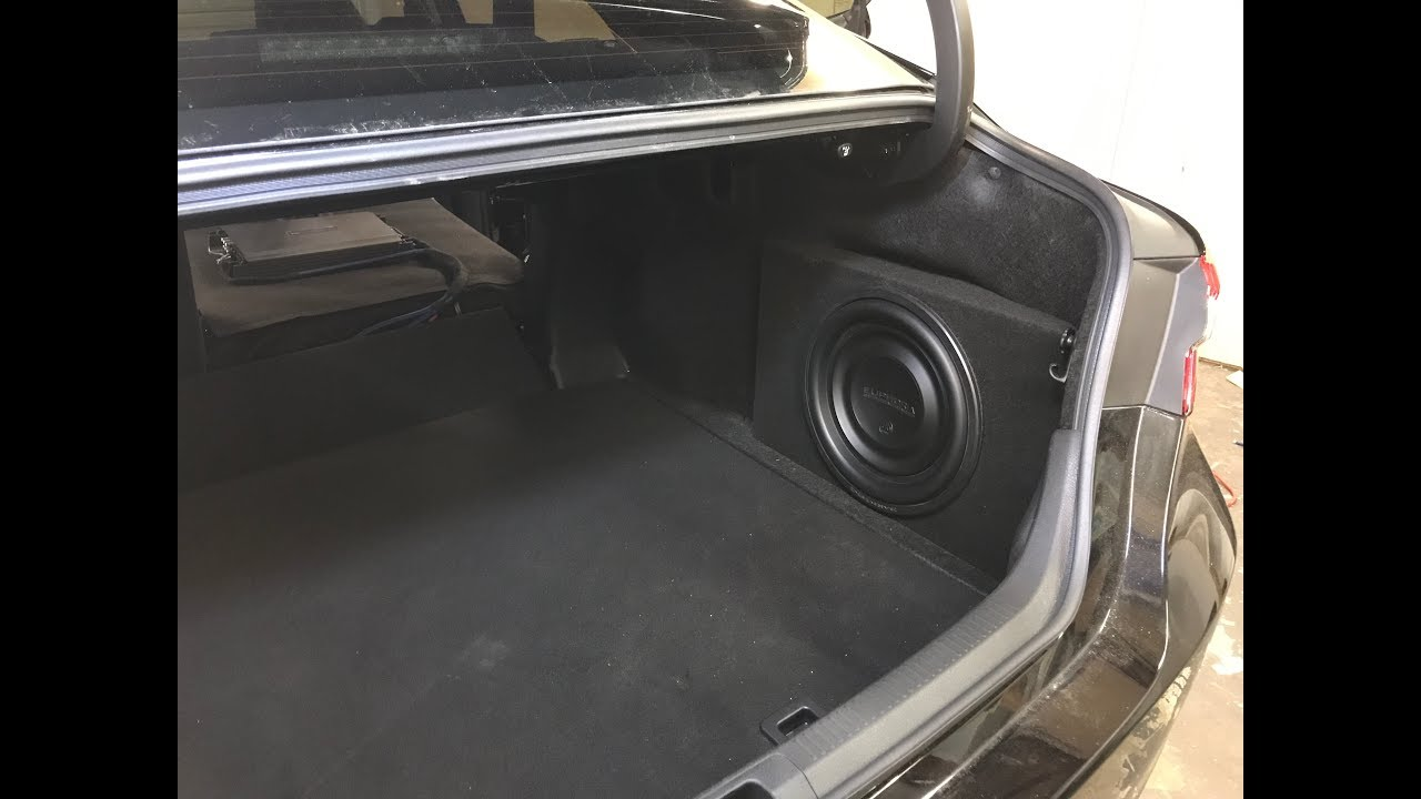 2018 Toyota Camry Custom Subwoofer Enclosure