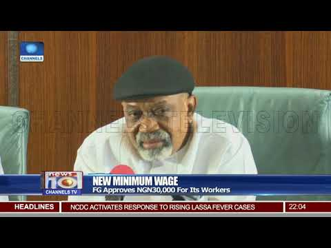 FG Approves NGN30,000 For Its Workers As New Minimum Wage