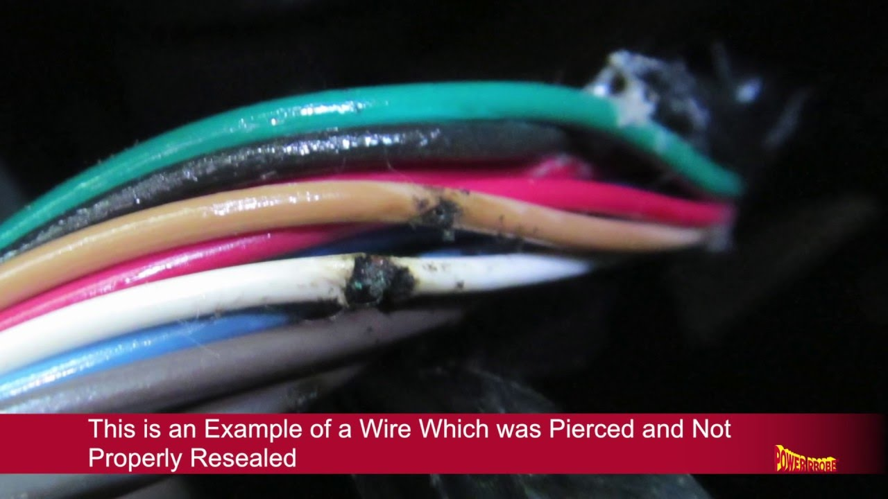 how to reseal pierced wire insulation youtube wiring harness insulators [ 1280 x 720 Pixel ]
