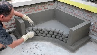 Tip Build a Aquarium From Cement Marbles And Bricks Easy And Beautiful at Home