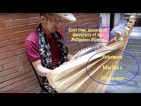 John Bakok Plays Sasando in University of The Philippine Diliman