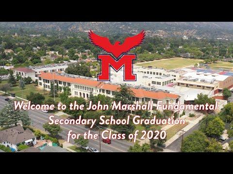 Marshall Fundamental Class of 2020 Virtual Graduation