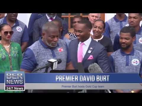 Premier David Burt Hosts Gold Cup Team, June 28 2019