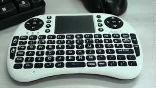 2 4g wireless mini qwert keyboard 90 degree flip touchpad with receiver for pc cell phone