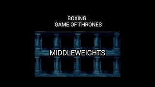 BFTB BOXING *MIDDLEWEIGHT SUPREMACY*