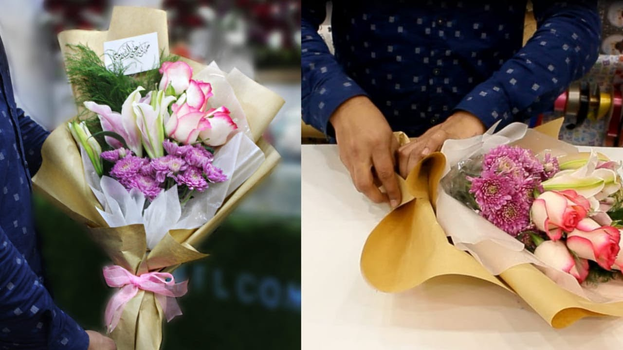 Wrapping Flower How To Make A Hand Tied Bouquet Youtube