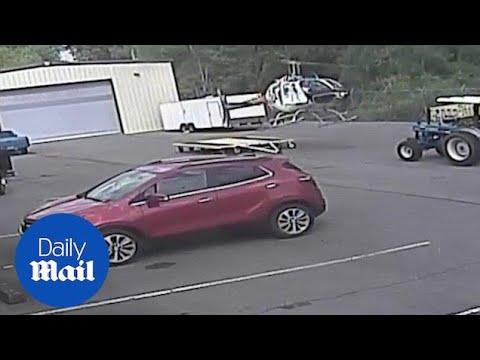 Surveillance video shows Little Rock helicopter accident - Daily Mail
