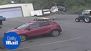 Surveillance video shows Little Rock helicopter accident