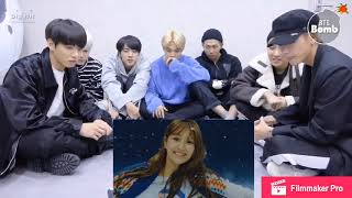 BTS- reaction to TWICE and Red Velvet-(Knock Knock and Really Bad Boy)