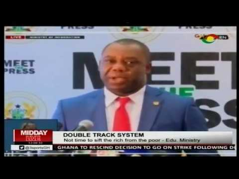 Education Ministry explains double track system