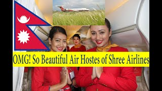 Nepal, Shree airlines CRJ 200 flight  from Bhairawaha  to Kathmandu