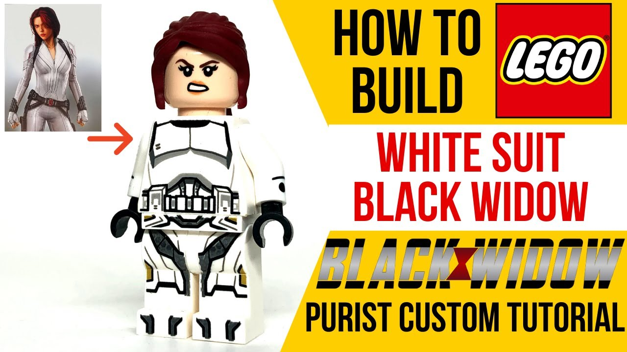 How To Build Lego White Suit Black Widow From The Black Widow Movie Youtube