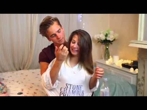 Not My Arms Challenge Joe Sugg and Zoella - YouTube