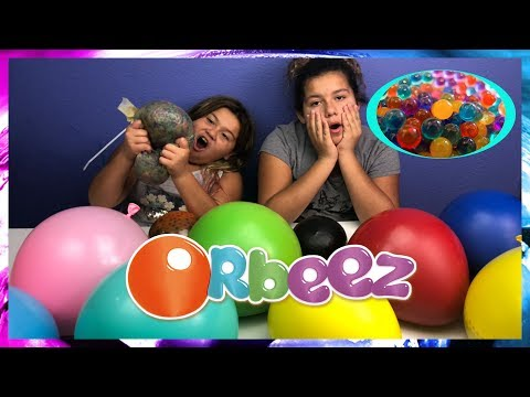 Popping Giant Balloons filled with Orbeez - Orbeez balloon Bomb Experiment