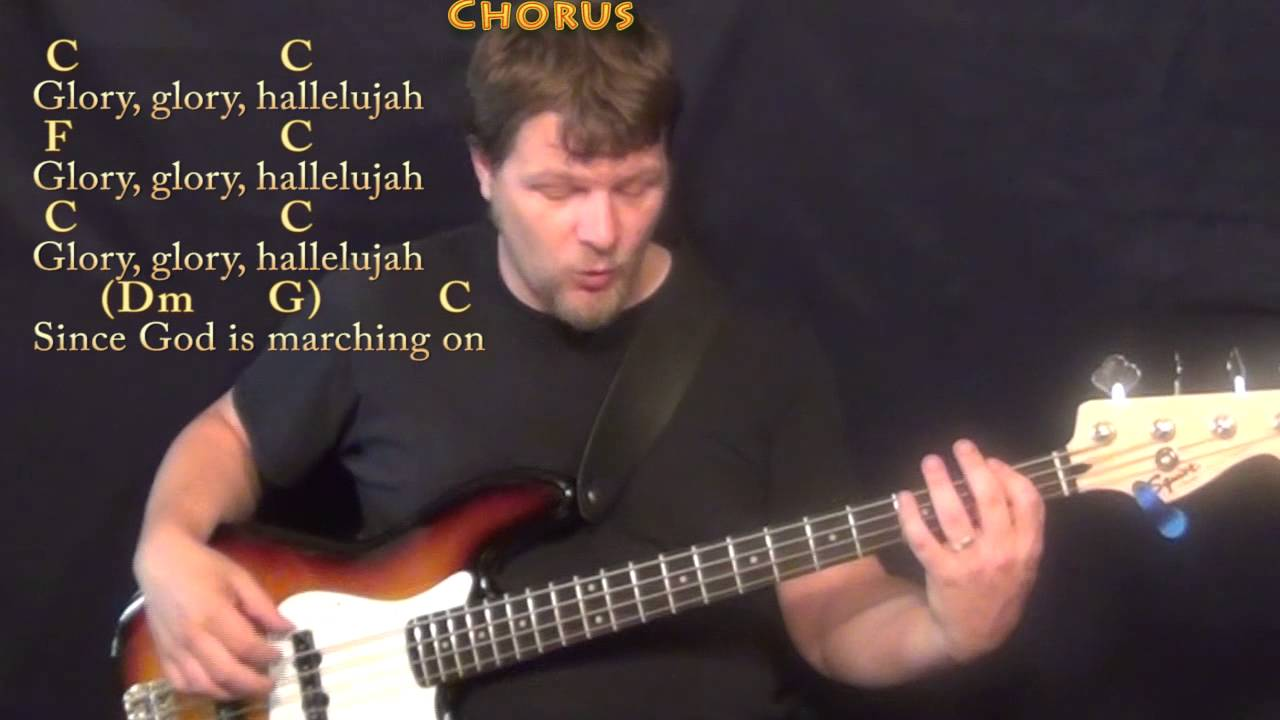 The Battle Hymn Of The Republic Bass Guitar Cover Lesson In C With