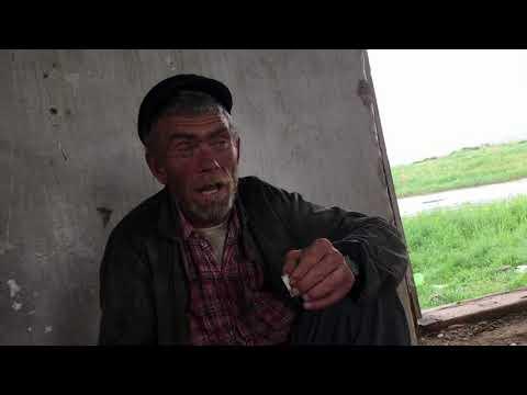 Деревня в Курганской области. Местный житель. Аллея Боевой Славы. Звук мотора.