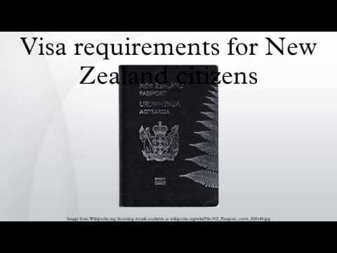 Visa requirements for New Zealand citizens