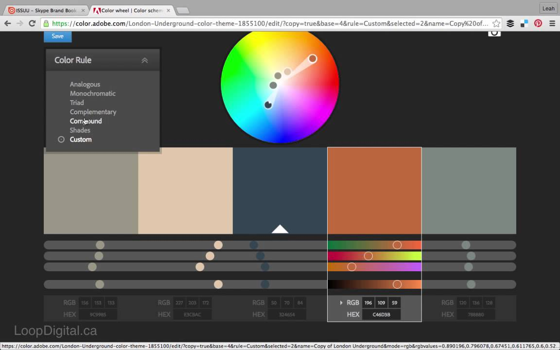 How To Create A Colour Palette With Adobe Color Cc Youtube