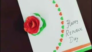 Handmade Republic day cards | Republic day craft | republic Greeting card