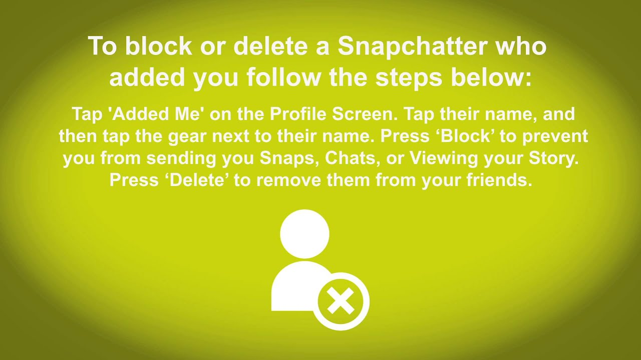 How To Delete And Block People On Snapchat