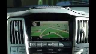 Lexus RX 330 - Installed FM Converter with Papago GPS navigation system