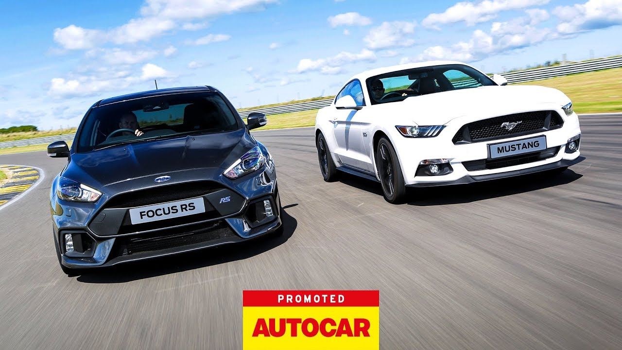 promoted ford focus rs vs mustang youtube. Black Bedroom Furniture Sets. Home Design Ideas