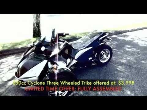 3 Wheel 250cc cyclone 2012 Trike Motorcycle $4699.99 Assembled