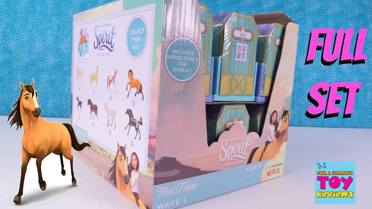 Spirit Riding Free Horse Stable Blind Bags Dreamworks Show Opening |  PSToyReviews