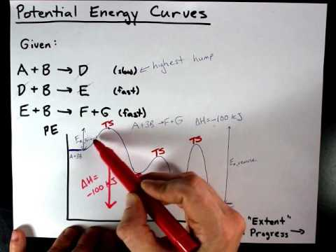 Draw A Potential Energy Curve For This Reaction Given Mechanism