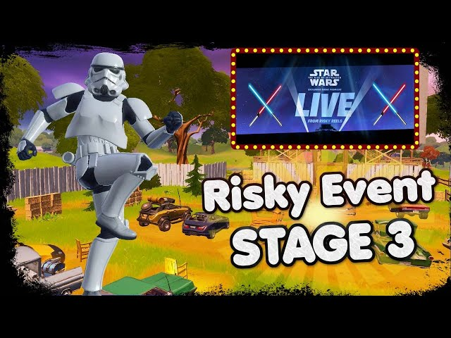 FORTNITE - RISKY REELS STAR WARS EVENT - ALL CRANES AND EQUIPMENT ARE GONE ( RISKY BACK TO NORMAL )