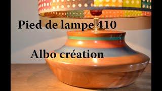 TOURNAGE PIED DE LAMPE EN VALCHROMAT ET SAPELLI. 410