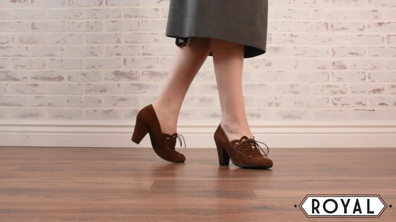 d0e1634b63d Alice Retro Cutout Oxfords in Nutmeg by Royal Vintage. Royal Vintage Shoes