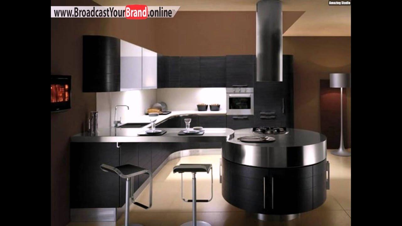 schwarze k chenschr nke moderne k che stahl mito youtube. Black Bedroom Furniture Sets. Home Design Ideas