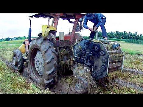 Máy Cày Kubota M5970, Kubota M6000 Cuốn Rơm Ngày Bão Số 9 Một Cuộn Chắc 40-50kg/ Vietnamese Tractors