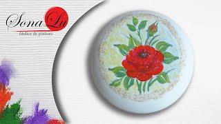 Rosa Vermelha em Sabonete Modelo 3