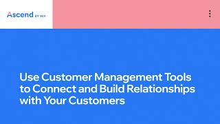 Wix.com | Build Customer Relationships | Complete CRM