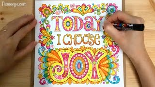 Today I Choose Joy - Speed Coloring / Time-Lapse