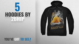 Top 10 2Bhip Hoodies [2018]: Bruce Lee Martial Arts Yellow Dragon Adult Pull-Over Hoodie