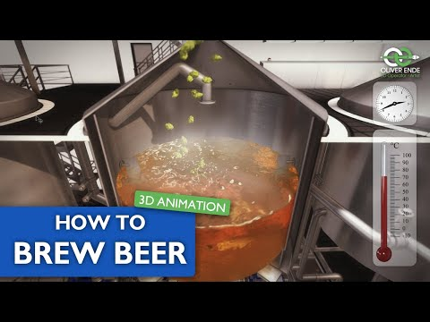 Beer Brewing Process - 3D Animation