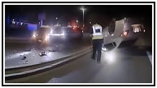 DUI Rolled Over Car Crash | Body Cam | United States | 20190809
