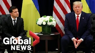 President Donald Trump and Ukrainian President Volodymyr Zelensky.