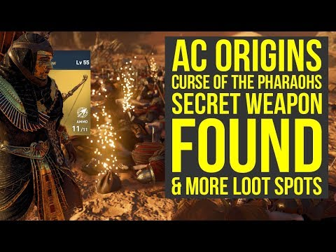 Assassin's Creed Origins Curse of the Pharaohs SECRET WEAPON Found & More! (AC Origins Best Weapons)
