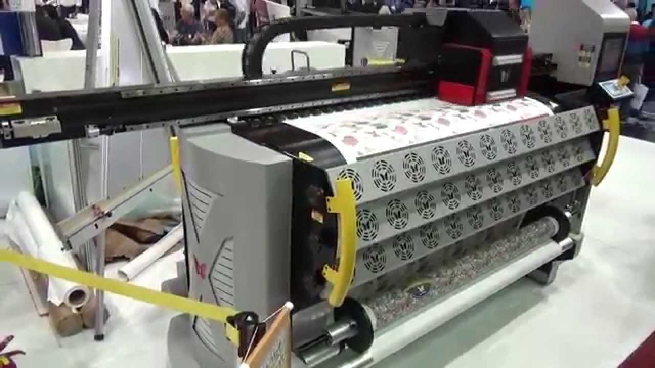 6ceb7acb4381e Impressora Digital Ampla New Targa XT AQUATEX 1816 Feira SIGN2015 - YouTube