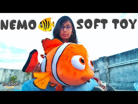 Nemo Fish Soft Toy Unboxing | Fish Stuffed Toy | Best Birthday Gift For Kids | Jyoti Toys Review