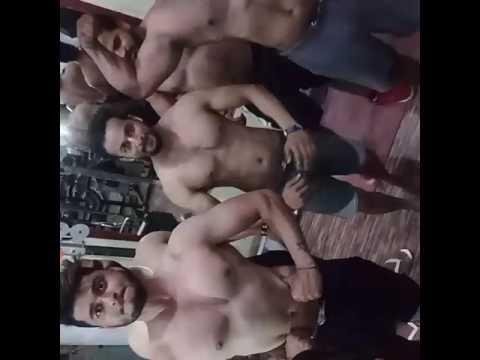 Freely posing body buliding karan health club khanna city