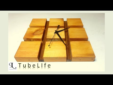 DIY Modern Live Edge Wall Clock   wooden clock